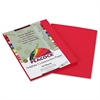 Tru-Ray Construction Paper, 76 lbs., 9 x 12, Scarlet, 50 Sheets/Pack