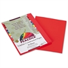 Pacon Peacock Sulphite Construction Paper, 76 lbs., 9 x 12, Red, 50 Sheets/Pack