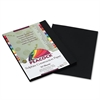 Pacon Peacock Sulphite Construction Paper, 76 lbs., 9 x 12, Black, 50 Sheets/Pack