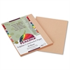 Pacon Peacock Sulphite Construction Paper, 76 lbs, 9 x 12, Light Brown, 50 Sheets/Pack