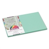 Peacock Sulphite Construction Paper, 76 lbs, 12 x 18, Light Green, 50 Sheets/Pk