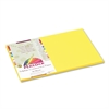 Pacon Peacock Sulphite Construction Paper, 76 lbs., 12 x 18, Yellow, 50 Sheets/Pack