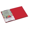 Peacock Sulphite Construction Paper, 76 lbs, 12 x 18, Holiday Red, 50 Sheets/Pk