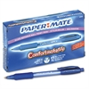 Paper Mate ComfortMate Grip Ballpoint Retractable Pen, Blue Ink, Medium, Dozen