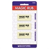MAGIC RUB Art Eraser, Vinyl, 3/Pack