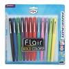 Point Guard Flair Bullet Point Stick Pen, Assorted Ink, 1.4mm, Dozen