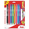 Pentel WOW! Retractable Ballpoint Pen, 1mm, Assorted Barrel, Assorted Ink, 8/Pack