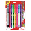 R.S.V.P. Stick Ballpoint Pen, 1mm, Assorted Barrel, Assorted Ink, 8/Set