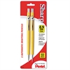 Pentel Sharp Mechanical Drafting Pencil, 0.9 mm, Yellow Barrel, 2/Pack