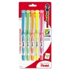 Pentel 24/7 Highlighter, Chisel Tip, Blue/Green/Orange/Pink/Yellow Ink, 5/Set