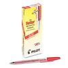 Pilot Better Ball Point Stick Pen, Red Ink, .7mm, Dozen