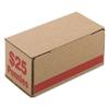 PM Company Corrugated Cardboard Coin Storage w/Denomination Printed On Side, Red