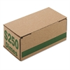 PM Company Corrugated Cardboard Coin Storage w/Denomination Printed On Side, Green