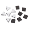 Quartet Metallic Magnets, Magnetic, Black; Silver, 12/Pack
