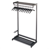 "Quartet Single-Sided Rack w/Two Shelves, 12 Hangers, Steel, 36"" Wide, Black"