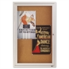 Quartet Enclosed Bulletin Board, Natural Cork/Fiberboard, 24 x 36, Silver Aluminum Frame