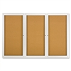 Quartet Enclosed Bulletin Board, Natural Cork/Fiberboard, 72 x 48, Silver Aluminum Frame