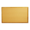 Classic Series Cork Bulletin Board, 60 x 34, Oak Finish Frame