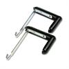 """Quartet Adjustable Cubicle Hangers, 1 1/2"""" - 3"""" Panels, Aluminum/Black, 2/Set"""