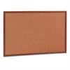 Mead Cork Bulletin Board, 36 x 24, Oak Frame