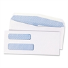 Quality Park 2-Window Security Tinted Check Envelope, #8 5/8, 3 5/8 x 8 5/8, White, 1000/Box