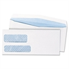 Quality Park Double Window Security Tinted Envelope, Gummed Flap, #10, White, 500/Box