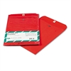 Quality Park Fashion Color Clasp Envelope, 9 x 12, 28lb, Red, 10/Pack