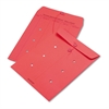 Colored Paper String & Button Interoffice Envelope, 10 x 13, Red, 100/Box