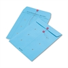Colored Paper String & Button Interoffice Envelope, 10 x 13, Blue,100/Box