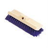 Rubbermaid Commercial Bi-Level Deck Scrub Brush, Polypropylene Fibers, 10 Plastic Block, Tapered Hole