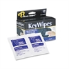 KeyWipes Keyboard & Hand Cleaner Wet Wipes, 5 x 6 7/8, 18/Box