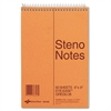National Standard Spiral Steno Book, Gregg Rule, 6 x 9, Green, 60 Sheets
