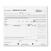 Bill of Lading Short Form, 7 x 8 1/2, Three-Part Carbonless, 250 Forms