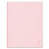 Blueline Large Executive Notebook, College/Margin, 11 x 8 1/2, Pink Cover, 75 Sheets