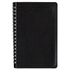 Poly Cover Notebook, 9 3/8 x 6, Ruled, Twin Wire Binding, Black Cover, 80 Sheets