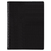 Poly Cover Notebook, 11 x 8 1/2, Ruled, Twin Wire Bound, Black Cover, 80 Sheets