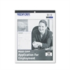 Rediform Employment Application, 8 1/2 x 11, 50 Forms