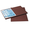 Tru-Ray Construction Paper, 76 lbs., 12 x 18, Dark Brown, 50 Sheets/Pack