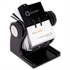 Wood Tones Open Rotary Business Card File Holds 400 2 5/8 x 4 Cards, Black