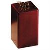 Wood Tones Paper Clip Holder, Wood, 2 1/8 x 2 1/8 x 3 1/2, Mahogany