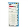 Redi-Tag Side-Mount Self-Stick Plastic Index Tabs Nos 1-10, 1 inch, White, 104/Pack