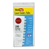 Redi-Tag Laser Printable Index Tabs, 7/16 Inch, White, 180/Pack
