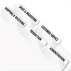 Redi-Tag Laser Printable Index Tabs, 2 x 7/8, White, 80/Pack