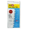 Redi-Tag Laser Printable Index Tabs, 7/16 x 1, White, 675/Pack