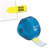 "Redi-Tag Arrow Message Page Flags in Dispenser, ""Sign Here"", Yellow, 120 Flags/Dispenser"