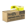 "Redi-Tag Arrow Message Page Flag Refills, ""Sign Here"", Yellow, 6 Rolls of 120 Flags"