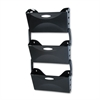 Rubbermaid Ultra Hot File Three Pocket Wall File Set, Letter, Black