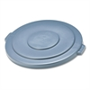 "Rubbermaid Commercial Round Flat Top Lid, for 55-Gallon Round Brute Containers, 26 3/4"", dia., Gray"