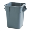 Rubbermaid Commercial Brute Container, Square, Polyethylene, 40gal, Gray