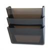 Rubbermaid Stak-A-File Three Pocket Wall File, Letter, Smoke